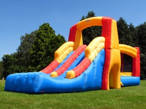 BeBop Double Bounce and Slide Bouncy Castle