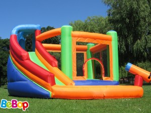 BeBop Spin Combo Bouncy Castle and Water Slide