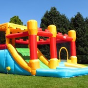 BeBop Fortress Bouncy Castle and Water Slide Combo