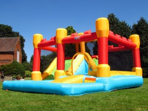 BeBop Fortress Bouncy Castle and Water Slide