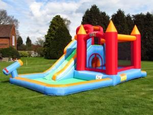 BeBop Wild Splash Water Slide and Bouncy Castle